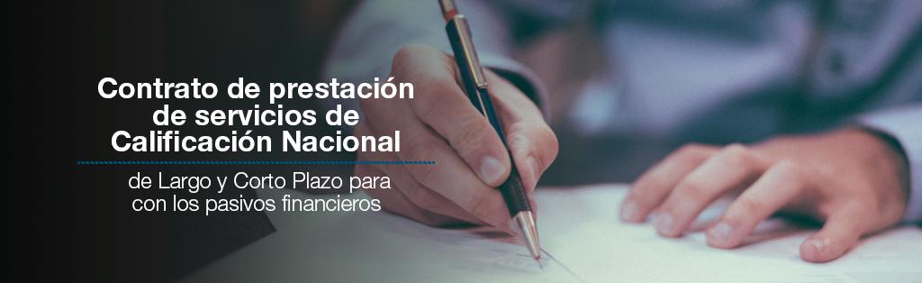 modelo de contrato de prestación de servicios de Calificación Nacional