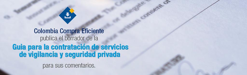 Borrador - Guia para la contratación de servicios de vigilancia y seguridad privada